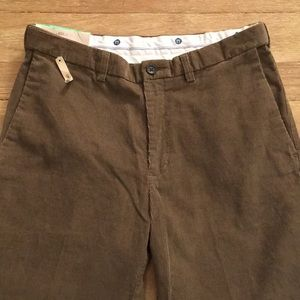 Haggar Classic Fit Go To Corduroy Comfort Brown